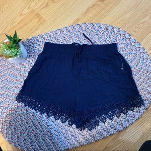SwS navy blue bohemian style shorts Sz Small
